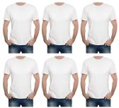 6 of Yacht & Smith Mens First Quality Cotton Short Sleeve T Shirts SOLID WHITE Size L