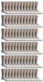 72 of SOCKSNBULK Bulk Pack Cotton Crew Socks, Size 9-11 (White)