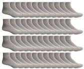 48 of SOCKSNBULK Women's Bulk Pack Cotton Ankle Socks, Size 9-11 (Gray)