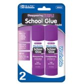 12 of 21g / 0.7 Oz. Large Washable Purple Glue Stick (2/Pack)