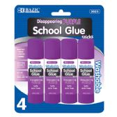 24 of 8g / 0.28 Oz. Small Washable Purple Glue Stick (4/Pack)