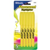 24 of Yellow Pen Style Fluorescent Highlighter w/ Pocket Clip (5/Pk