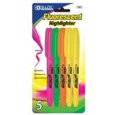 48 of Pen Style Fluorescent Highlighter w/ Pocket Clip (5/Pack)