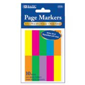 "24 of 100 Ct. 0.5"" X 1.75"" Neon Page Marker (10/Pack)"