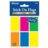 """72 of 25 Ct. 1"""" X 1.7"""" Neon Color Standard Flags (6/Pack)"""