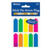 """24 of 25 Ct. 0.5"""" X 1.7"""" Neon Color Arrow Flags (10/Pack)"""