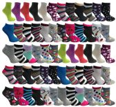 120 of Yacht & Smith Assorted Pack Of Womens Low Cut Printed Ankle Socks Bulk Buy