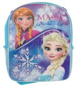 """12 of DISNEY BACKPACK 16""""""""WITH FRONT POCKET FROZEN ELSA & ANNA MAGIC OF THE NORTHERN LIGHTS"""