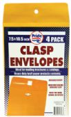 48 of CLASP ENVELOPE 4 PACK 7.5 X 10.5 INCH