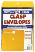 36 of CLASP ENVELOPE 3 PACK 9 X 12 INCH