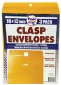 36 of CLASP ENVELOPES 3 PACK 10 X 13 INCH