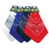 48 of BANDANA 21 X 21 INCH ASSORTED COLORS