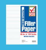 36 of FILLER PAPER 150 SHEET 8 X 10.5 INCH WIDE RULE