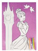 72 of FROZEN/PRINCESS COLORING SHEET SET 2 PC 11 X 15 INCH + 5 MARKERS PREPRICED $1