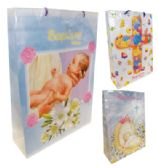 48 of GIFT BAG BAPTISM MEDIUM 8x11x4 ASSORTED DESIGNS