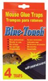48 of BLUE TOUCH GLUE TRAP 4 PACK MOUSE AND RAT PEANUT SCENT