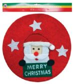 48 of PRIDE CHRISTMAS WREATH 13.25 IN SANTA DESIGN