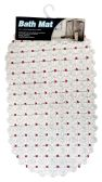 36 of BATH MAT 15 X27 INCH ANTI-SLIP CLEAR WITH ASSORTED DOTS