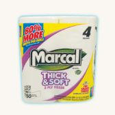 24 of MARCAL BATH TISSUE 4 PACK 150-2 PLY SHEETS THICK AND SOFT