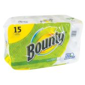 15 of BOUNTY PRINTS FULL SHEET 40CT 2PLY INDIVIDUALLY WRAPPED.