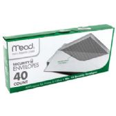 24 of MEAD SECURITY ENVELOPES 40 CT #10 WHITE USA
