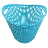 18 of WEAVED BASKET 14X13 INCHES WHITE AND AQUA ASSORTED