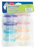 36 of STORAGE CONTAINER 8 PIECE MINI ROUND 3 OUNCE