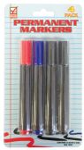 48 of PERMANENT MARKER 4 PACK ASSORTED COLORS