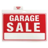 48 of PLASTIC SIGN GARAGE SALE 12 X 9 INCHES