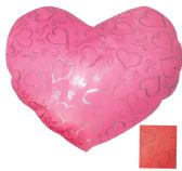 24 of PRINTED HEART PILLOW 14 X 12 INCHES ASSORTED COLORS