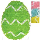 24 of EASTER EGG DECORATION 12 INCH TINSEL ASSORTED COLORS