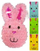 24 of EASTER BUNNY DECORATION 13 INCH TINSEL ASSORTED COLORS