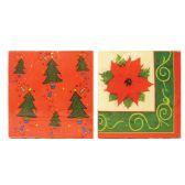 48 of CHRISTMAS NAPKIN 13X13 INCHES 2 PLY 20 COUNT ASSORTED