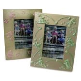 24 of PLASTIC PICTURE FRAME 3 X 4 INCH 2 ASSORTED DESIGNS PREPRICED $1.00
