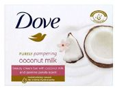 12 of DOVE BAR SOAP 4 PK 3.5 OZ COCONUT MILK