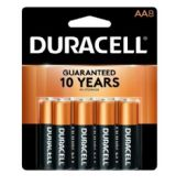 48 of DURACELL AA 8 PK COPPERTONE BATTERIES