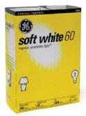 12 of GE LIGHTBULB 60W SOFT WHITE 4PK
