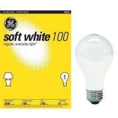 12 of GE LIGHTBULB 100W SOFT WHITE 4PK