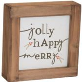 10 of WALL PLAQUE 7X7X1 WOOD XMAS