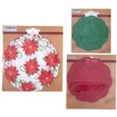 108 of DOILIES XMAS PRINT/SOLID RED &