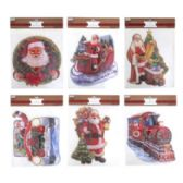 36 of SANTA WALL/WINDOW DECOR EMBOSSED