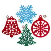 36 of HANGING DIECUT FELT XMAS DECOR