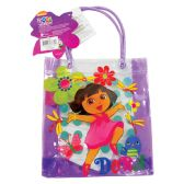 72 of DORA TOTE BAG WITH HANDLES 8X7 HEAVY PLASTIC