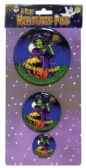 72 of HALLOWEEN BUTTON PINS 3.5 2.5 AND 1.5 INCH PREPRICED AT $2.99
