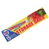 48 of STORAGE BAGS 15 CT 1 GALLON ZIP TOP