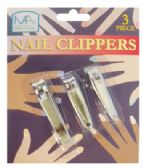 48 of NAIL CLIPPER SET 3 PIECE ASSORTED SIZES