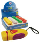 48 of MINI FLASHLIGHT L.E.D BATTERIES INCLUDED IN DISPLAY