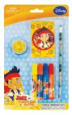 48 of DISNEY JAKE AND THE NEVERLAND PIRATES MARKER SET 7 PC INCLUDES MARKERS/PENCIL/PENCIL SHARPENER/ PAD