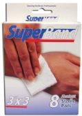 36 of SUPER BAND STERILE PADS 8 COUNT 3 X 3 INCH BOXED