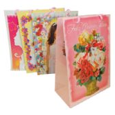 48 of FELIZ QUINCE ANOS GIFT BAG 8 X 11 X 4 INCH MEDIUM 4 ASSORTED DESIGNS